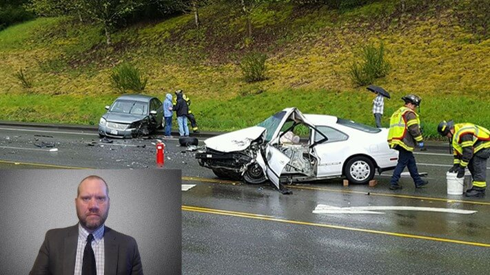 Image of car crash case with picture-in-picture example
